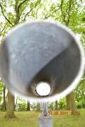 Blick durch kleines Teleskop