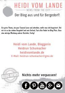 HeidivomLande, Bergedorf, der Bergedorfer Blog, Blogger, regionale Tipps, Veranstaltungen, Kultur, Musik, Events, Interviews, Krimi, Thriller, Touristeninformation, Sehenswürdigkeiten, Bloggerin