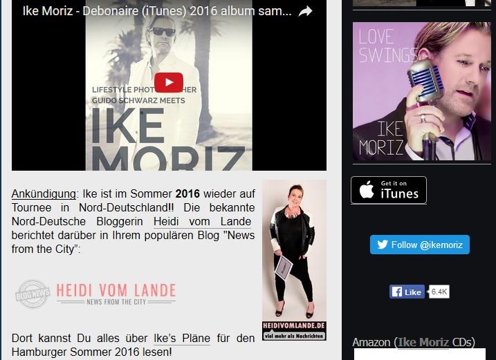Bergedorf, HeidivomLande, Blog, Ike Moriz, Südafrika, Sänger, Kapstadt, Interview, Tournee