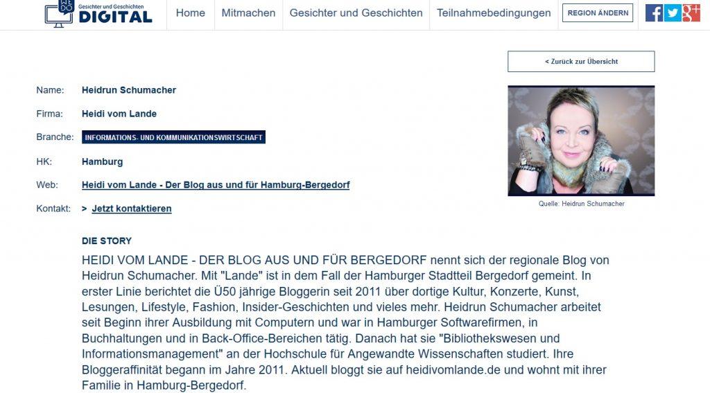 Heidi vom Lande, Bloggerin, Bloggen, Selfie, Instagram, Account, Der Blog aus und für Bergedorf, Bergedorfer Blog, Promis, Stars, Fashion, Trends, Region, Positives Wirken, Bergedorf Blog, We do ditigal, Digitalisierung, IHK, HK, Hamburg, Berlin