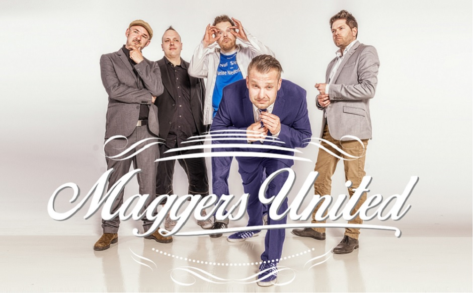 Maggers United, Rockband, Hamburg, Auftritt, Konzert, Gig, Belami Hamburg, Bergedorf, Vorband Lotto King Karl, Comedy, Rock, Piet Mosh, Justin Time, Kai Pirinha, Boom, Vadder Morgana