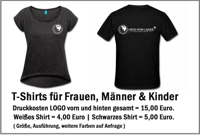Heidi vom Lande, Merchandising, T-Shirt, Hoodie, Sweatshirt, Turnbeutel, Logo, Blog, Bloggerin, Werbemittel, Blog, Der Blog aus Hamburg, Bergedorf, Marke, WERBEARTIKEL, Werbemittel, Werbegeschenke