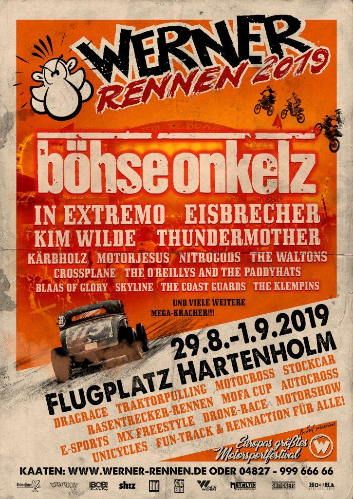 Werner Rennen 2019, Headliner, Musik, Festival, Konzert, Böhse Onkelz, Thomas Hess, Veranstaltung, Norddeutschland, Hartenholm, HEIDI VOM LANDE
