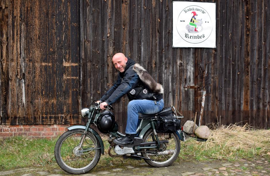 Kubikzwerge Reinbek, Mofa, Moped, Puch, Zündapp, Mofaclub, bei Hamburg, Mofateddy on Tour, Spendenaktion, Kinderhospiz Sternenbrücke, Patch, Mofahelden
