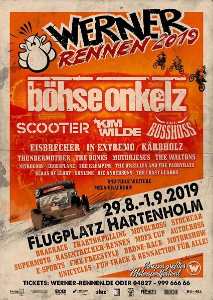 Werner Rennen 2019, Headliner, Musik, Festival, Konzert, The BossHoss, Boss Hoss, Scooter, Veranstaltung, Norddeutschland, Hartenholm, HEIDI VOM LANDE