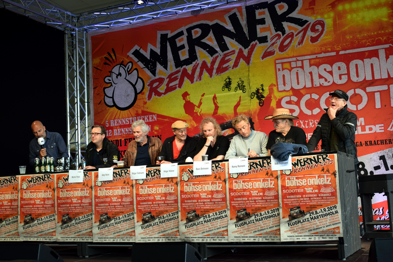 Werner Rennen 2019, Hartenholm, Flugplatz, Konny Reimann, Andi Feldmann, Brösel, Rötger Feldmann, Kult-Auswanderer, Duell, Motorsportfestival, Pressekonferenz, News, Nachrichten, Norddeutschland