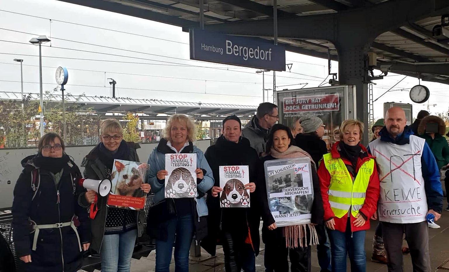 LPT, Tierversuchslabor, Mienenbüttel, Harburg, Hamburg, Bergedorf, Schließung, Protest, Tierschutzdemonstration, Nachrichten