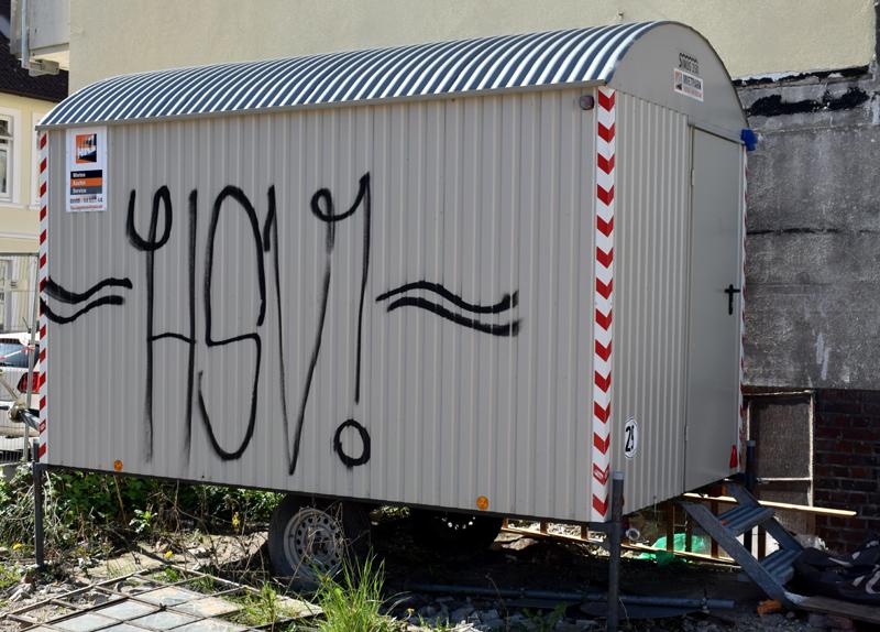 HSV, Fußballliebe, Fußball, Sportverein, Sprayer, Graffiti, Bergedorf, Hamburg, Rudolf-Steiner-Schule, Streetart, Polizei, Strafanzeige, News, Nachrichten