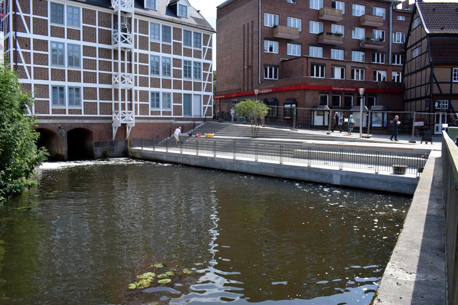 Bergedorfer Hafen, Kupferhof, Kupferhofterrassen, Bauarbeiten, Einweihung, Serrahn, Wasserplatz zum Verweilen, News, Nachrichten
