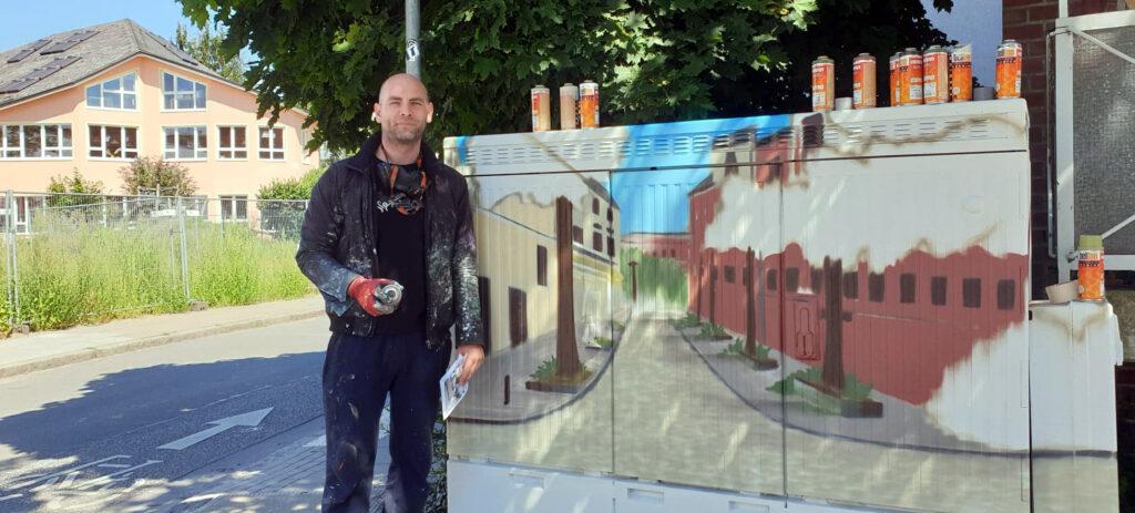 Verschönerung Stromkästen, Sprayer, Vincent Schulze, Wandgestaltung, Graffiti, Soltaustraße, Bergedorf-Süd, Nachrichten