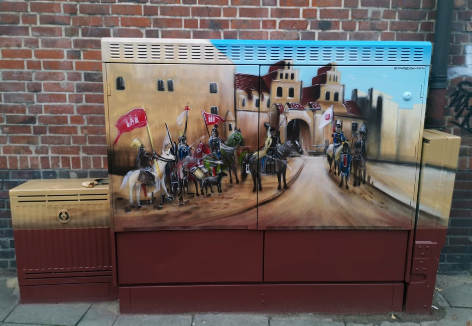 Verteilerkasten, Verteilerkästen, gesprayt, Straßenkunst, Graffiti-Künstler, Bergedorf, Hamburg, echte Hingucker, Hamburg, Vincent Schulze