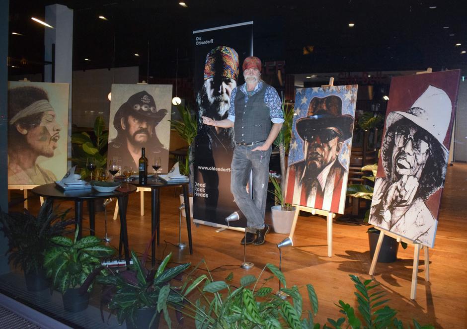 Ole Ohlendorff, Künstler, Rock Legends, Rockstars, Lockdown Aktion, Hamburg, Bergedorf, combiful, Unser Schaufenster für Eure Kunst, Gastronomie solidarisiert sich mit Künstlern