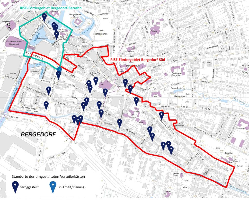 Standorte Verteilerkästen, Graffiti, Bergedorf, Hamburg, Rundgang, hübsche Motive, Vincent Schulze